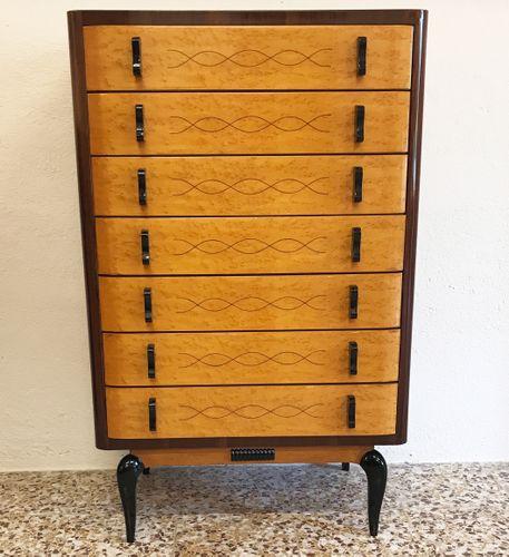 hohe mid century kommode 1950er bei pamono kaufen. Black Bedroom Furniture Sets. Home Design Ideas