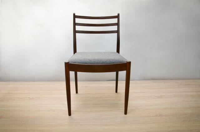 graue teak st hle 1970er 6er set bei pamono kaufen. Black Bedroom Furniture Sets. Home Design Ideas