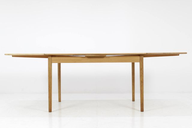 Mid Century Danish Oak Extendable Dining Table 1960s For