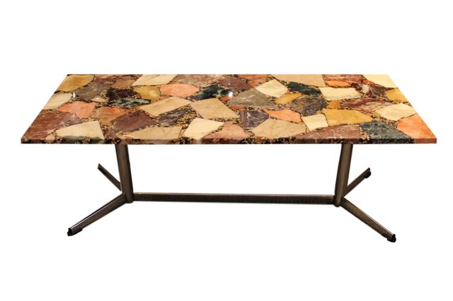 Italian geode agate coffee table 1950s for sale at pamono for Geode side table