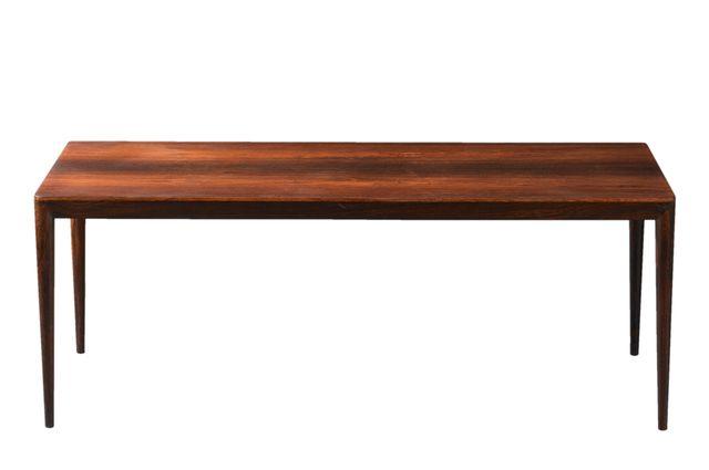 Long Danish Rosewood Coffee Table By Erik Riisager Hansen