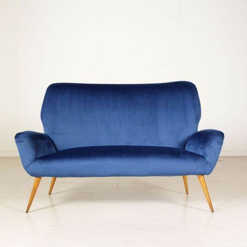 italienisches sofa aus samt buchenholz 1950er bei pamono kaufen. Black Bedroom Furniture Sets. Home Design Ideas