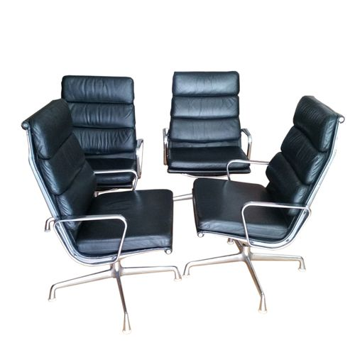 Mid Century Ea 215 Softpad Armchairs By Charles Amp Ray