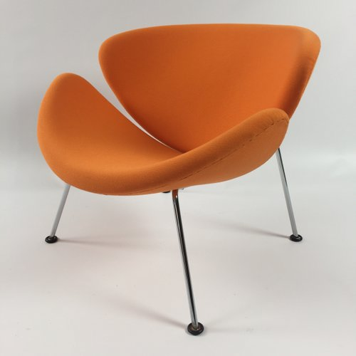 Vintage orange slice lounge chair by pierre paulin for for Artifort chaise lounge