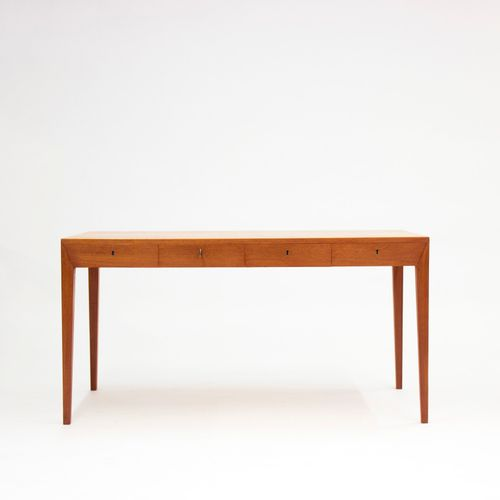 Mid Century Teak Desk By Severin Hansen For Haslev