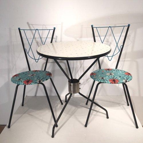 vintage esszimmerset mit 1 tisch und 2 st hlen bei pamono. Black Bedroom Furniture Sets. Home Design Ideas