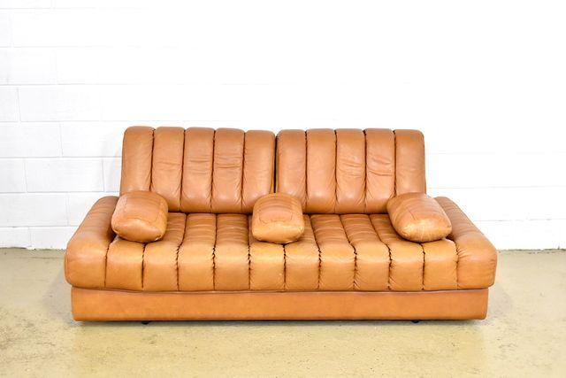 ds85 cognacfarbenes ledersofa von de sede 1970er bei pamono kaufen. Black Bedroom Furniture Sets. Home Design Ideas