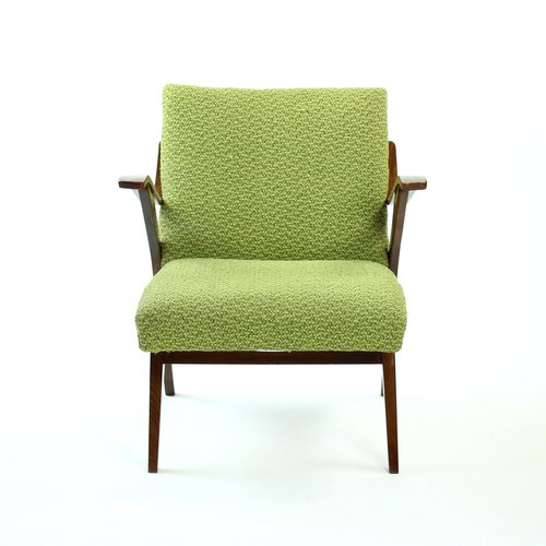 Green Bentwood Lounge Chair From Mier 1960s For Sale At