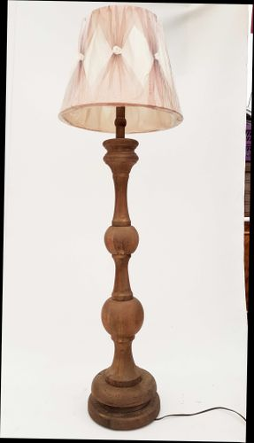 German solid oak floor lamp 1950s for sale at pamono for Oak floor lamp stand