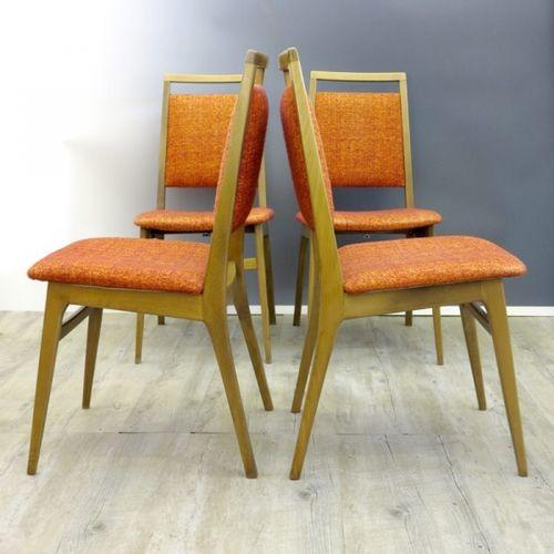 Modernistische skandinavische st hle 4er set 1960er bei for 4er schlafsofa