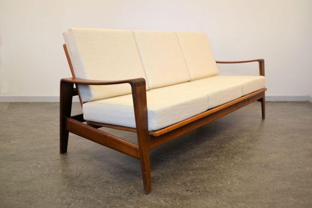 teakholz drei sitz sofa von arne wahl f r komfort bei. Black Bedroom Furniture Sets. Home Design Ideas