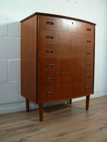 d nische vintage teakholz kommode bei pamono kaufen. Black Bedroom Furniture Sets. Home Design Ideas