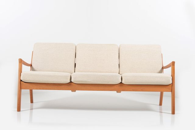3 sitzer sofa aus teakholz von ole wanscher f r p. Black Bedroom Furniture Sets. Home Design Ideas