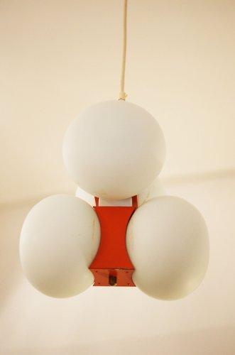 mid century h ngelampe mit milchglas kugeln bei pamono kaufen. Black Bedroom Furniture Sets. Home Design Ideas