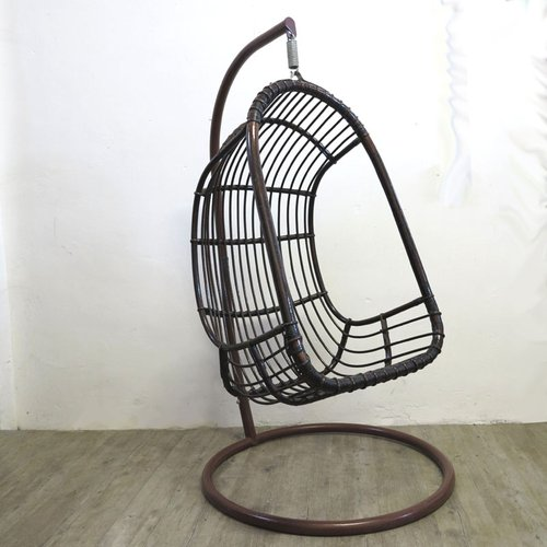 Vintage Rattan amp Bamboo Hanging Egg Chair For Sale At Pamono