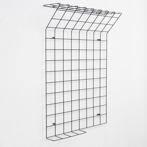 garderobe mit hutablage aus metalldraht 1960er bei pamono kaufen. Black Bedroom Furniture Sets. Home Design Ideas