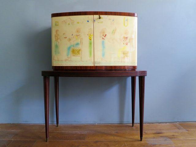 italienischer vintage barschrank aus palisander spiegelglas bei pamono kaufen. Black Bedroom Furniture Sets. Home Design Ideas