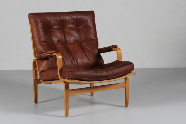 Dux Dining Table ... Cognac Leather Easy Chair by Bruno Mathsson for Dux for sale at Pamono