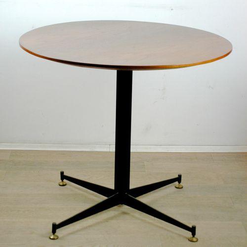 Vintage Italian Circular Dining Table By Vittorio Nobile