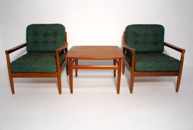 Table basse avec fauteuil integre for Fauteuil pour table basse