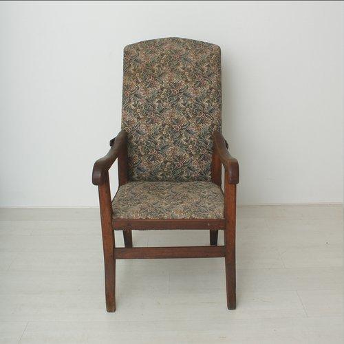 vintage lehnstuhl mit kippbarer lehne 1920er bei pamono. Black Bedroom Furniture Sets. Home Design Ideas