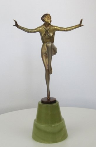 Art Deco Bronze Statue By Josef Lorenzl, 1930S For Sale At Pamono
