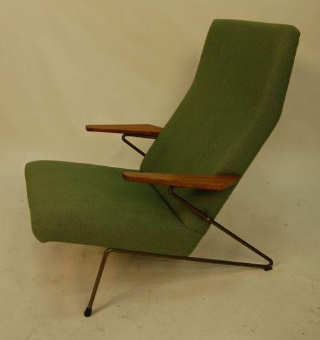 green easy chair by coene oberman for gelderland for sale. Black Bedroom Furniture Sets. Home Design Ideas