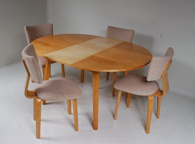 set aus birkenholz st hlen und tisch von cor alons f r de boer gouda bei pamono kaufen. Black Bedroom Furniture Sets. Home Design Ideas