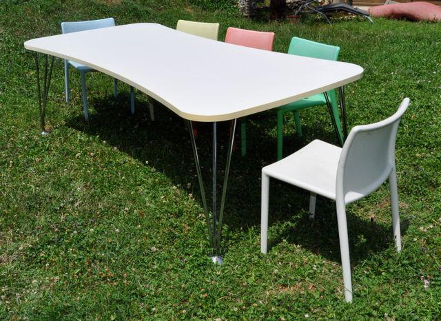 max esstisch oder schreibtisch von ferruccio laviani f r kartell bei pamono kaufen. Black Bedroom Furniture Sets. Home Design Ideas