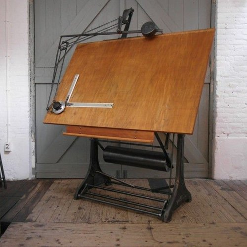 industrial drafting table from kuhlmann 1950s for sale at