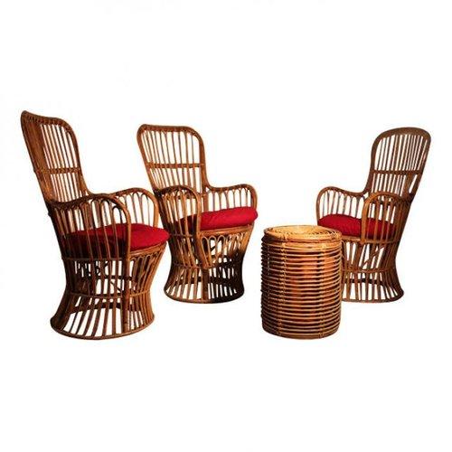 italienisches wohnzimmergarnitur aus bambus bei pamono kaufen. Black Bedroom Furniture Sets. Home Design Ideas