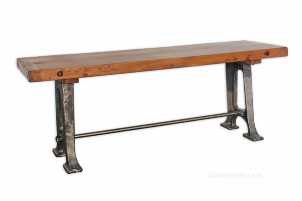 iron leg dining table plank top dining table vintage industr