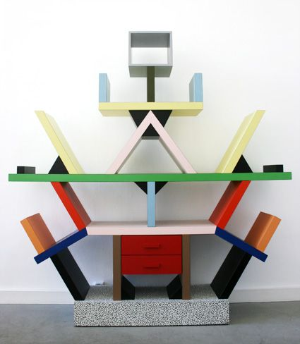 Carlton Bookcase By Ettore Sotts For Memphis Milano 1981