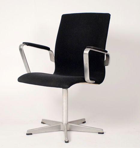 vintage oxford stuhl von arne jacobsen f r fritz hansen bei pamono kaufen. Black Bedroom Furniture Sets. Home Design Ideas