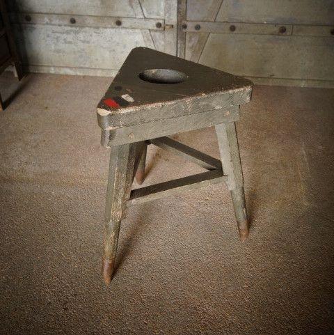 vintage hocker aus holz bei pamono kaufen. Black Bedroom Furniture Sets. Home Design Ideas