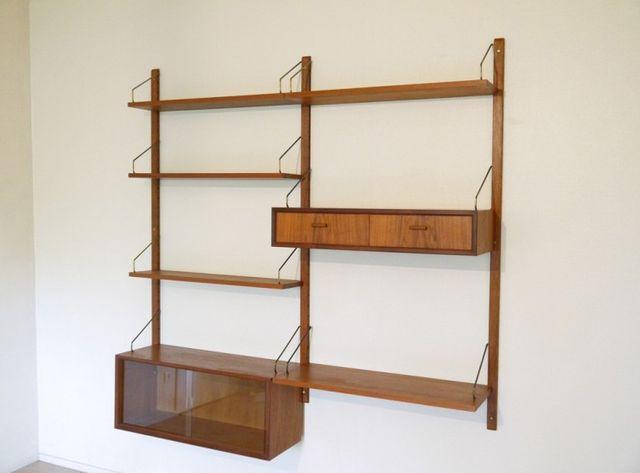 d nische vintage schrankwand 1960er bei pamono kaufen. Black Bedroom Furniture Sets. Home Design Ideas
