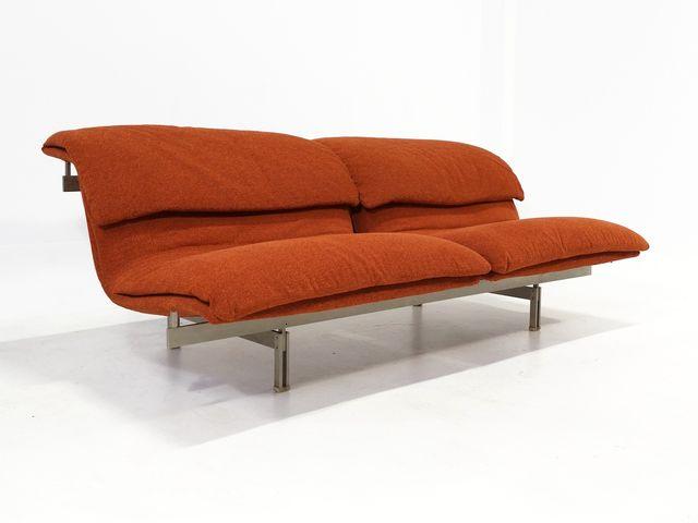 2 sitzer sofa von giovanni offredi f r saporiti 1974 bei. Black Bedroom Furniture Sets. Home Design Ideas
