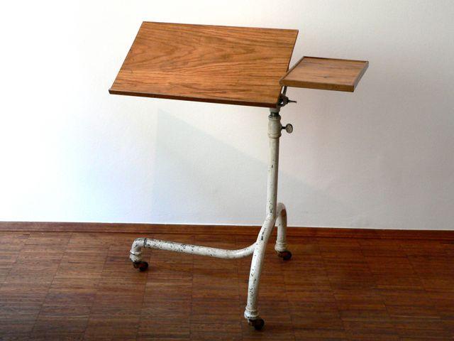 vintage krankenbett tisch von eisenm belfabrik arnold 1928 bei pamono kaufen. Black Bedroom Furniture Sets. Home Design Ideas