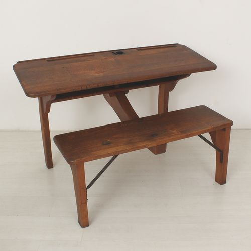 Antique School Desk 1900s for sale at Pamono