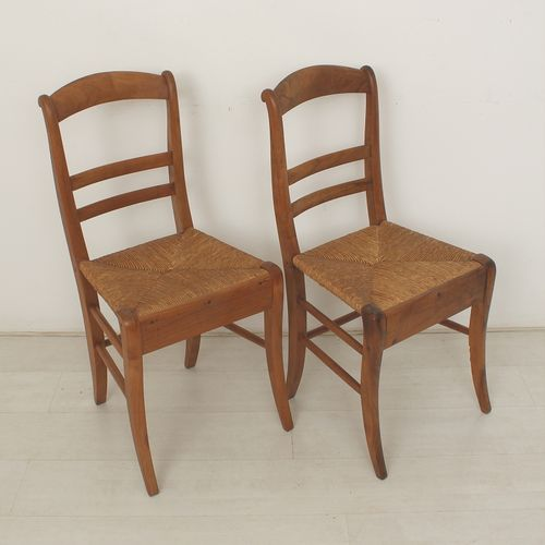 Antique Wooden Chairs 1900 Set Of 2 For Sale At Pamono