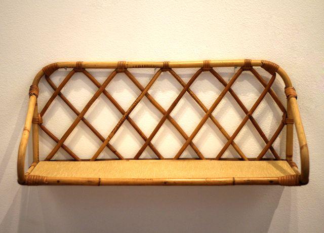 vintage rattan regal 1960er bei pamono kaufen. Black Bedroom Furniture Sets. Home Design Ideas