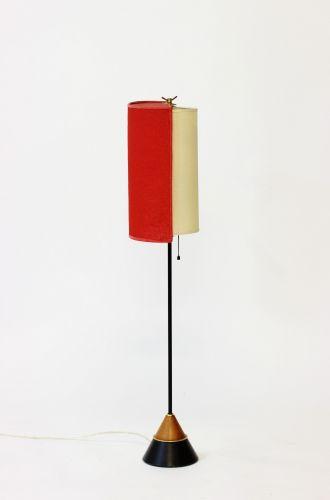 Lampada da terra in ottone, Svezia, anni 50 for sale at Pamono