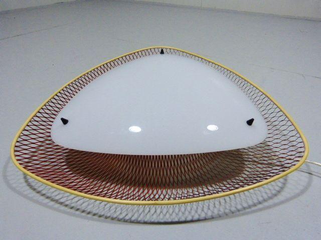rote netz hnliche deckenlampe 1950er bei pamono kaufen. Black Bedroom Furniture Sets. Home Design Ideas