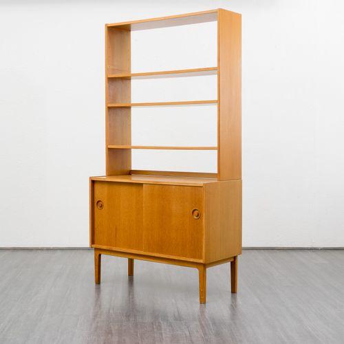 freistehende regaleinheit aus eiche 1960er bei pamono kaufen. Black Bedroom Furniture Sets. Home Design Ideas