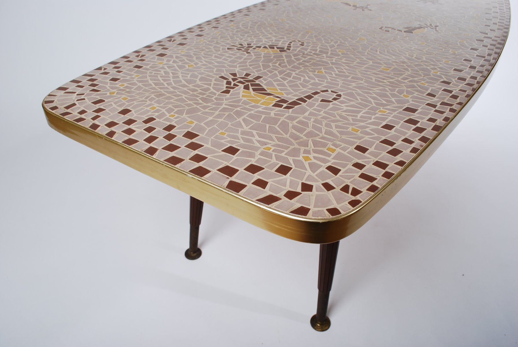 Vintage Mosaic Coffee Table 1950s for sale at Pamono