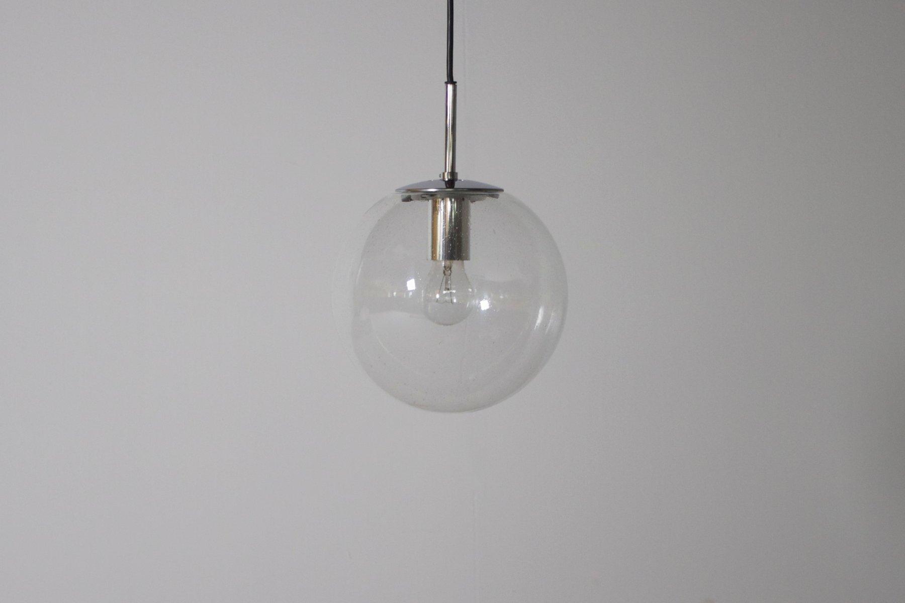 kleine deutsche glaskugel h ngelampe von glash tte limburg bei pamono kaufen. Black Bedroom Furniture Sets. Home Design Ideas