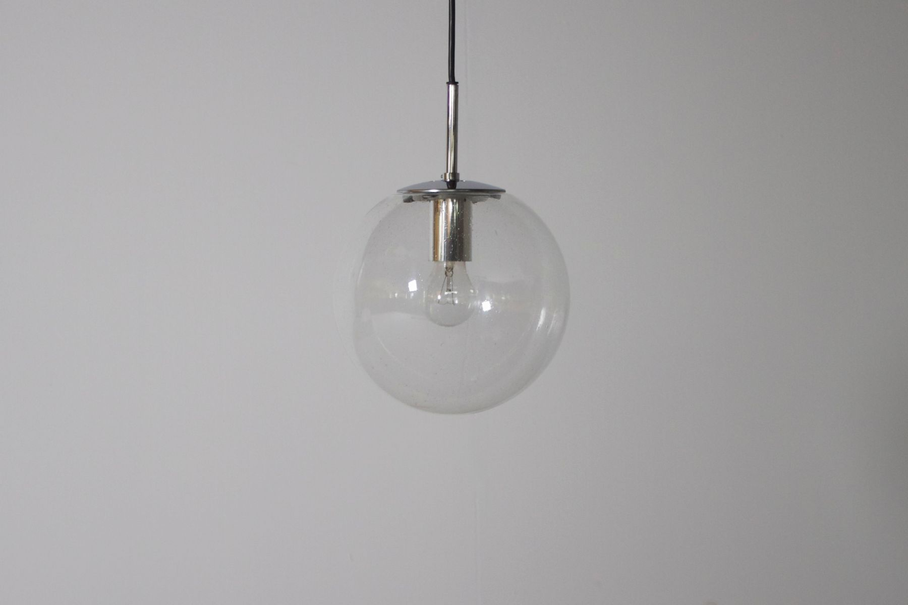 small german glass globe pendant from factory limburg for sale at  - price per piece