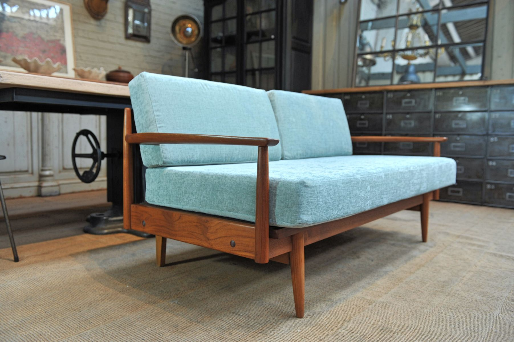 Danish Three Seater Teak Sofa 1960s for sale at Pamono