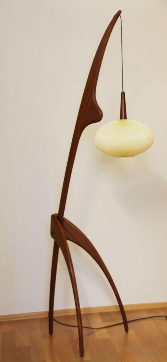 Praying Mantis Floor Lamp by Jean Rispal, 1950s for sale ...
