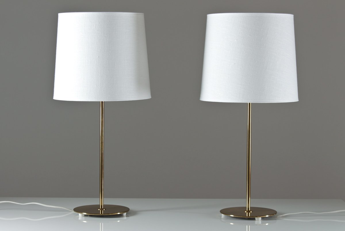 mid century table lamps by bergboms set of 2 for sale at. Black Bedroom Furniture Sets. Home Design Ideas